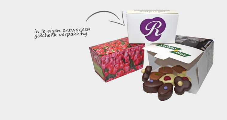 bonbons in logo verpakking relatigeschenk promotie beurs